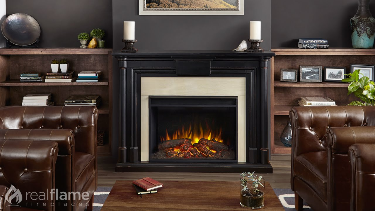 real flame maxwell grand series electric fireplace youtube