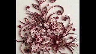 Квиллинг. Фантазийные цветы. Мастер-класс.