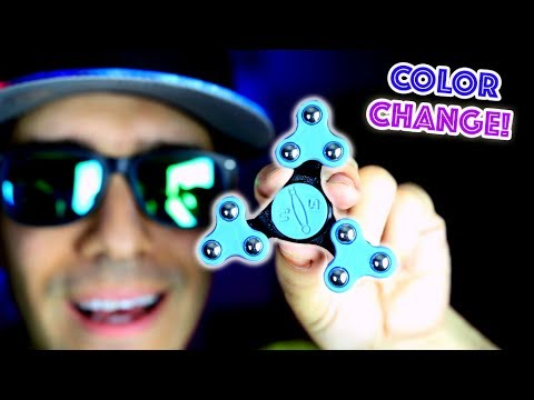 Thumbnail: Top 7 RARE Fidget Spinners! CHANGES COLOR AND FOLDS! Cool Edc Hand Spinner