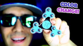 Top 7 RARE Fidget Spinners! CHANGES COLOR AND FOLDS! Cool Edc Hand Spinner