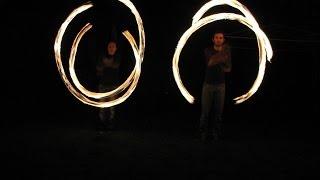 Fire Poi Spinning, Fun everywhere around the World!
