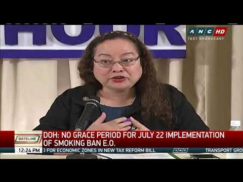 DOH: No grace period for smoking ban implementation