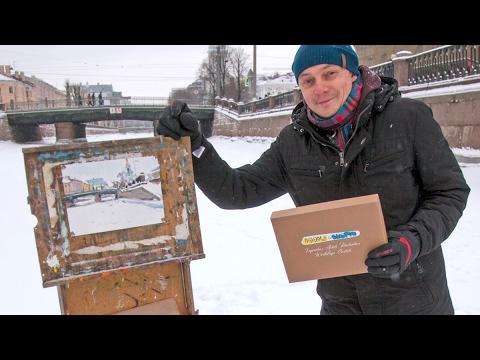 Петр Тютрин - видео урок - пленэр. Февральский Doodle&Sketch OilBox
