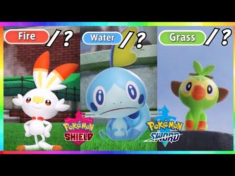 New Pokemon Sword Shield Gen 8 Starters Second Types Revealed
