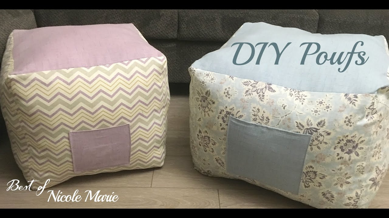 diy pouf tutorial youtube. Black Bedroom Furniture Sets. Home Design Ideas