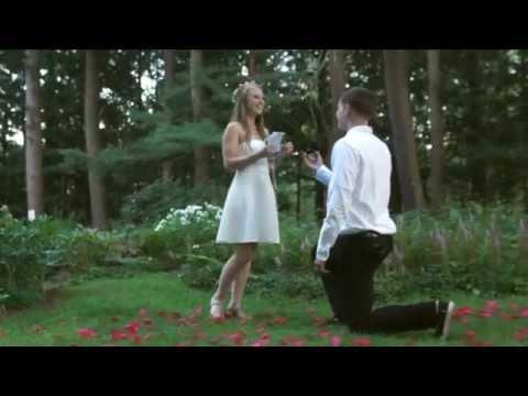 Saratoga Springs Yaddo Gardens proposal Jesee & Evan