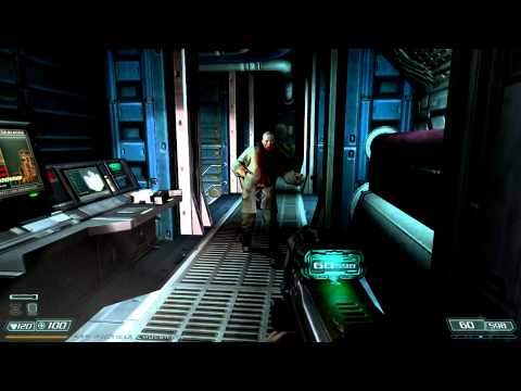 Doom 3 walkthrough - Alpha Labs - Sector 1