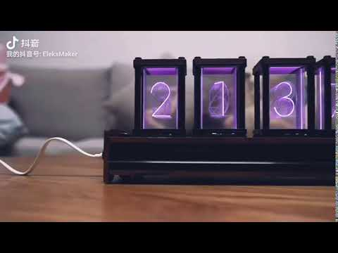 RGB LED 6 Bit Glow Digital Clock Nixie Tube Clock Kit