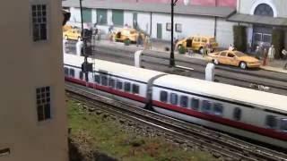 mth turbo train amtrak running on mega layout njhi railers