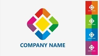 How to design a logo and name card for new company #4