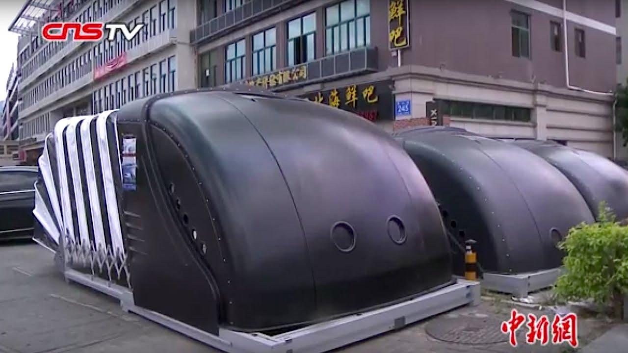 移动车库_移动车库现身福州街头 / Mobile garages in Fuzhou - YouTube