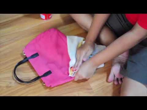 cara membersihkan tas kate spade loden nylon pink
