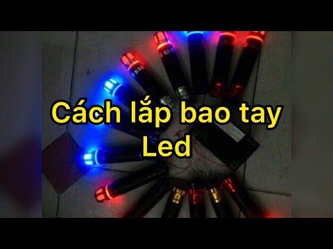 Lên bao tay đèn led gì xéo cho wawe 110 bao chất