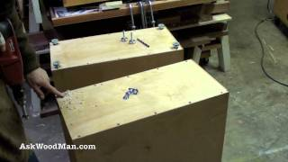 How To Make Plywood Boxes • 60 Of 64 • Woodworking Project For Kitchen Cabinets, Desks, Etc...