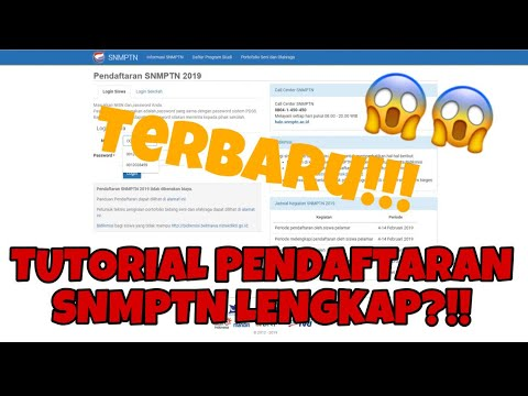 TUTORIAL PENDAFTARAN SNMPTN LENGKAP 2019   INFO TERBARU KEPADA PESERTA SNMPTN 👇🏻