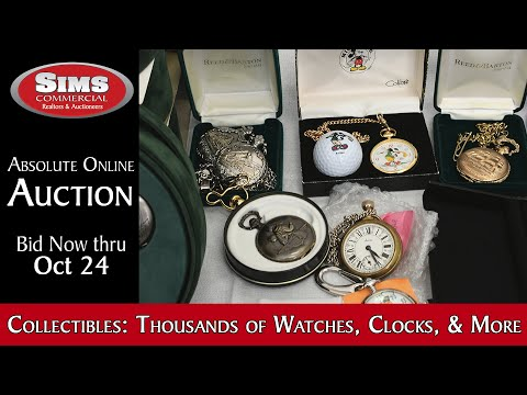 ONLINE AUCTION: Thousands of Collectible Watches, Clocks, Toys & more from a Single Collector