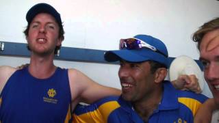 WILLIAMSTOWN  CRICKET CLUB PLAYERS SINGING VICTORY SONG