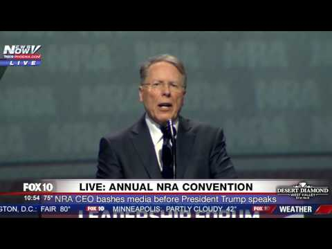 WATCH: NRA CEO Wayne LaPierre Bashes Media During Speech at 2017 Convention in Atlanta