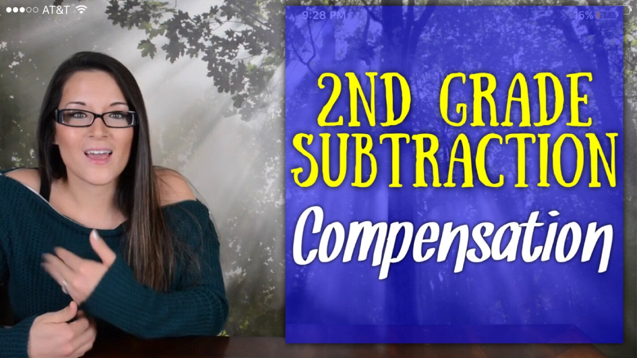 Compensation - Second Grade Subtraction Strategy - YouTube [ 720 x 1280 Pixel ]