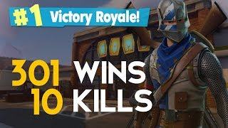SOLO-10 KILLS-301 WINS (Fortnite Battle Royale free) [PT-BR]-Softe