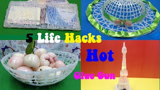 5 amazing things can be made with a hot glue gun 5 life hacks hot glue gun