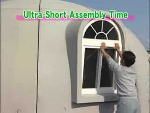 Styrofoam dome home - YouTube