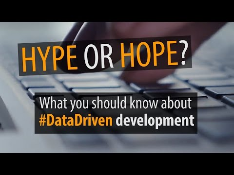 What have we learned about #DataDriven development?