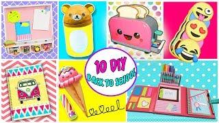10 Amazing DIY BACK TO SCHOOL - Make your School Supplies | aPasos Crafts DIY