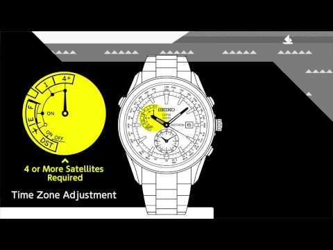 SEIKO GPS Solar / Time Zone Adjustment - Infographics movie