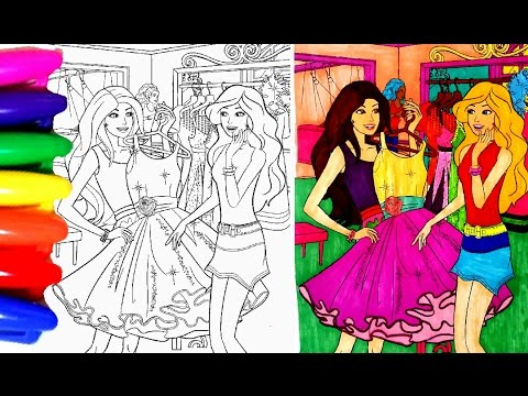 Coloring Pages BARBIE Princess Chelsea In A Shop Book Videos For Children Learning Colors