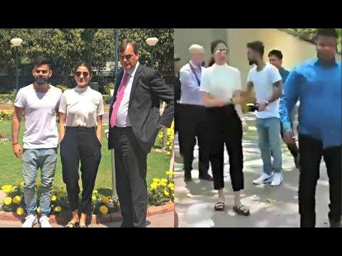 Anushka Sharma And Virat Kohli Visit  British High Commission In Delhi