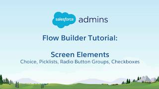 1E Flow Builder Tutorial - Screen Elementen