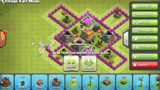 Clash of Clans Растановка базы TH 7 Подробное видео