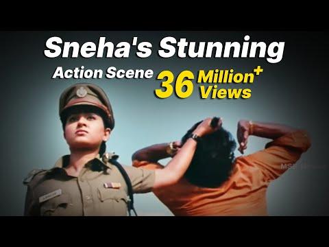 """Sneha's Stunning Action Scene - """"Bhavani IPS""""  Super Hit Action Movie Scene"""