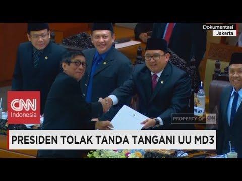 Yasonna: Jokowi Tidak Akan Tandatangan UU MD3