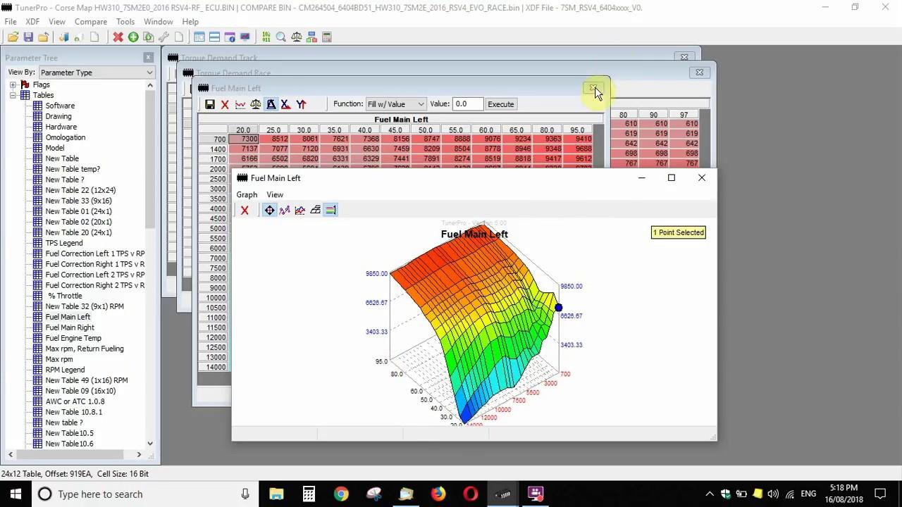Tuner Pro Comparing bin files