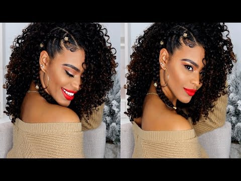Holiday Hairstyle on Curly Hair