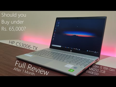 HP CS3006-TX | Core i5 10th Gen | MX250 2GB | Full Review | 1 Month | August 2020 |