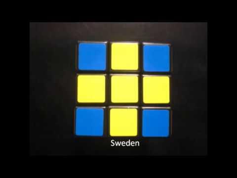 Rubik's Cube Flags