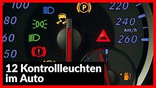 12  Kontrollleuchten im Auto