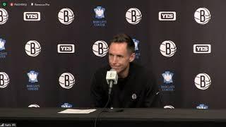 Coach Steve Nash Postgame; Nets beat the Bucks in preseason