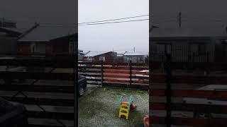 Video: Nieve de primavera en Río Grande