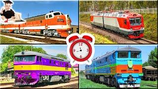 Поезда для детей. Угадайка. Учим цвета.