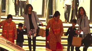 Shilpa Shetty Had Dinner With Family & Spotted In Juhu Coming Out From Restaurant