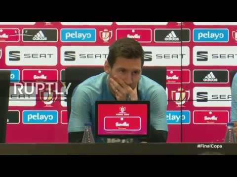 LIVE: Barcelona stars speak to press ahead of Copa del Rey final