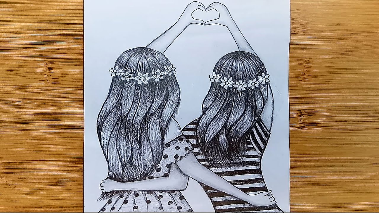 How To Friendship Day Drawing With Pencil Sketch   Friendship Day Drawing