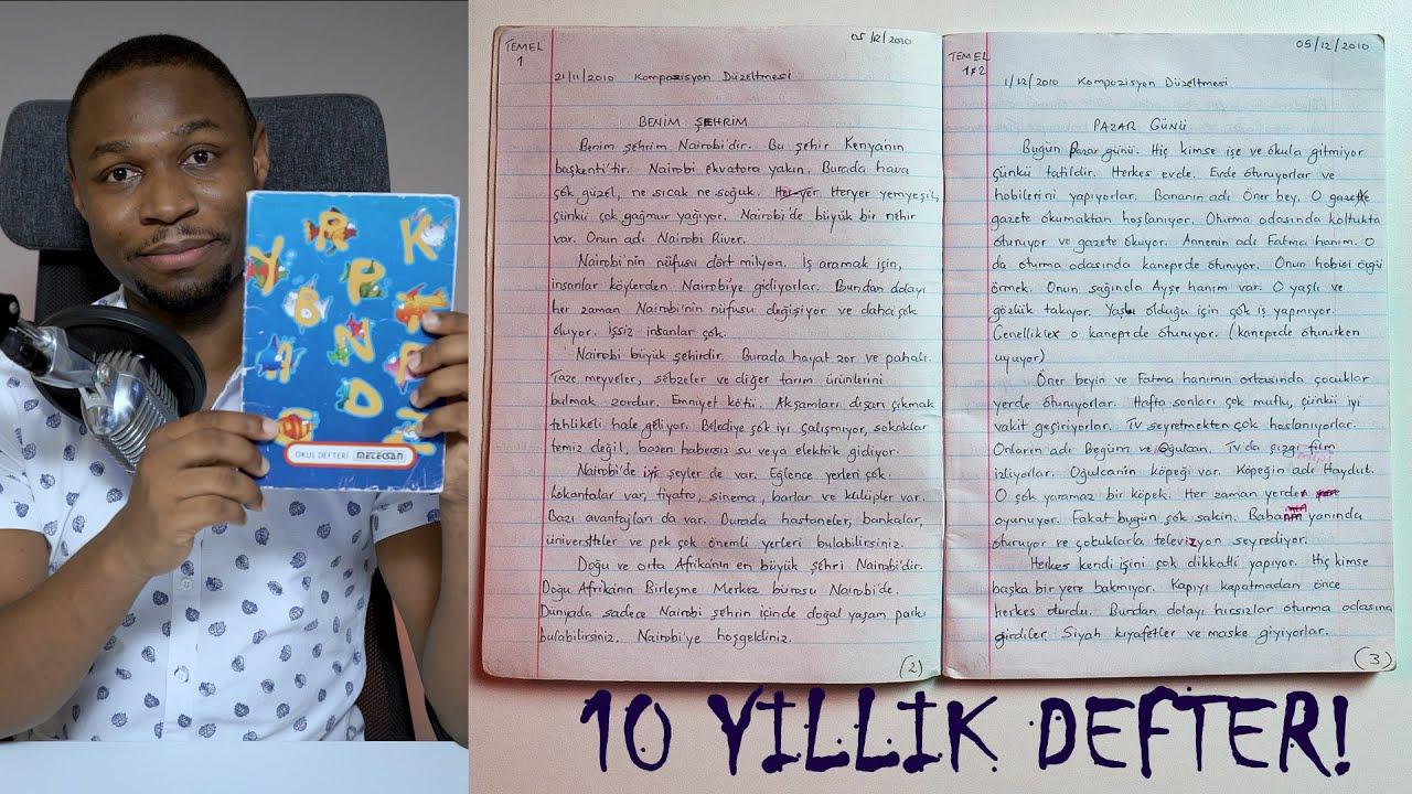 10 Yıllık Türkçe Yazma Defterim!!
