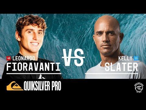 Kelly Slater vs. Leonardo Fioravanti - Round of 32, Heat 12 - Quiksilver Pro France 2019