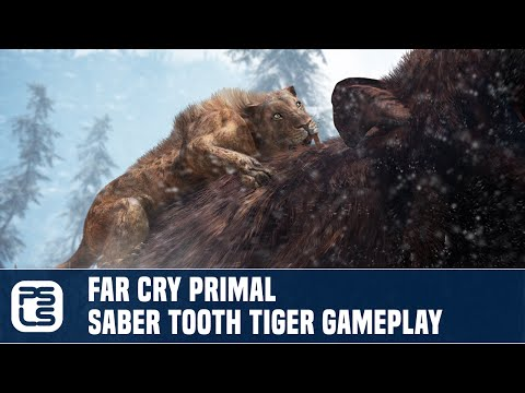Far Cry Primal Exclusive Gameplay - Saber Tooth Tiger