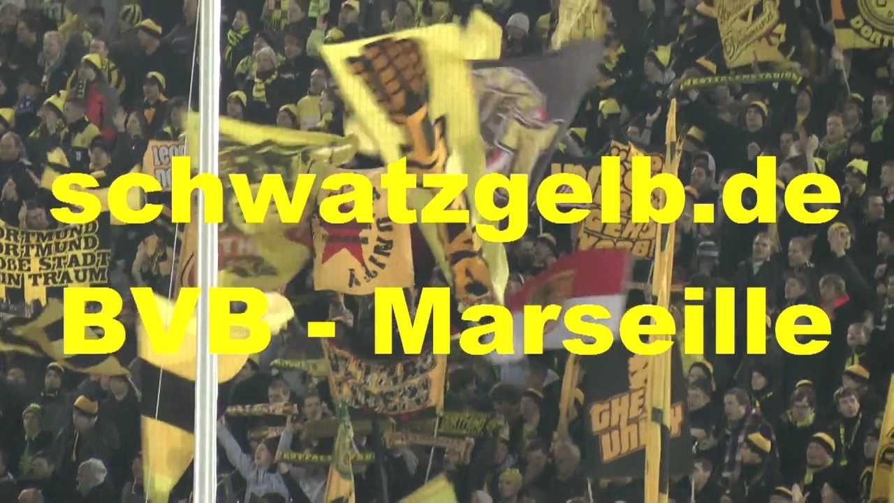 Borussia Dortmund vs Olympique Marseille 2-3 Pyro Champions League BVB - Marseille